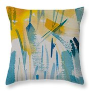 Cattail Sun Throw Pillow