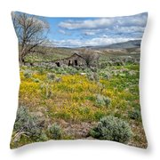 Cattle Camp Throw Pillow