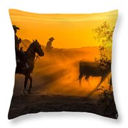 Cattle Drive 14 Throw Pillow