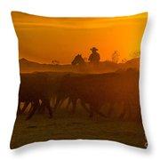 Cattle Drive 20 Throw Pillow