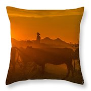 Cattle Drive 21 Throw Pillow