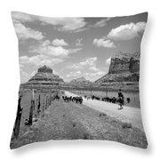 Cattle Drive Throw Pillow