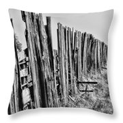 Cattle Fence By Diana Sainz Throw Pillow