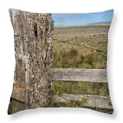 Cattle Fence On The Stornetta Ranch Throw Pillow