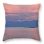 Cattle Point At Sunset On Vancouver Island British Columbia Throw Pillow