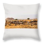 Cattles Throw Pillow