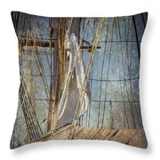 Caught By The Sea Throw Pillow