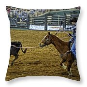 Caught Calf Throw Pillow