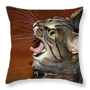 Caught In The Act Throw Pillow