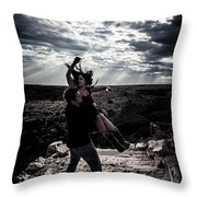 Caught In The Air Throw Pillow