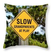 Caution Sign Throw Pillow