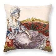 Cavaco A La Polonaise, Engraved Throw Pillow