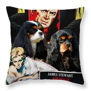 Cavalier King Charles Spaniel Art - Vertigo Movie Poster Throw Pillow