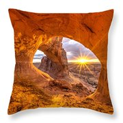 Cave Arch Throw Pillow
