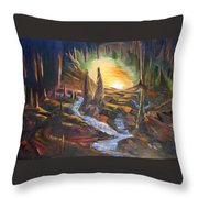 Cave Dwellers Throw Pillow
