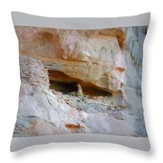Cave Dwelling Where Pictograms Were Found Throw Pillow