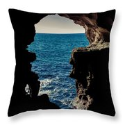 Cave Hole Throw Pillow