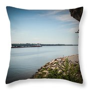 Cave In Rock Illinois Throw Pillow
