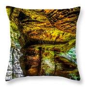 Cave Land Throw Pillow