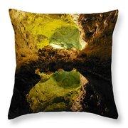 Cave On Lanzarote Throw Pillow