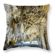 Cave Wall Formations Throw Pillow