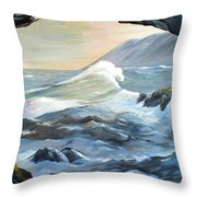 Cave Wave By Chris Throw Pillow