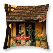 Caveau St Pierre Sign In Colmar France Throw Pillow