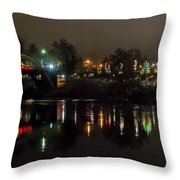 Caveman Bridge And Taprock At Christmas - Panorama Throw Pillow