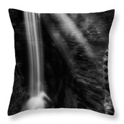 Cavern Cascade Throw Pillow by Bill Wakeley