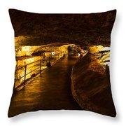 Cavern Path 2 Throw Pillow