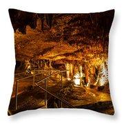 Cavern Path 3 Throw Pillow