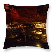 Cavern River Throw Pillow