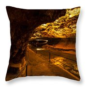 Cavern River Path Throw Pillow