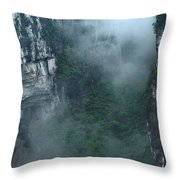 Caving Expedition To Explore The Caves Throw Pillow