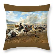 Cavlary Battle Throw Pillow by Victor Mazurovskii