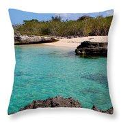 Cayman Beach Throw Pillow