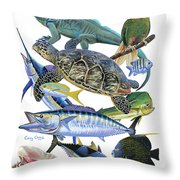 Cayman Collage Throw Pillow