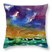 Cayman Color Water Throw Pillow