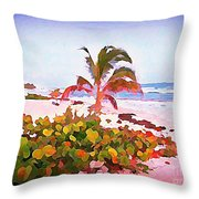 Cayman Island Secret Throw Pillow