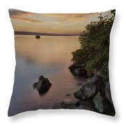 Cayuga Sunset I Throw Pillow by Michele Steffey