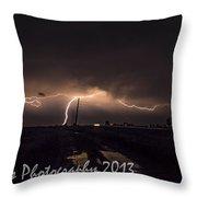 Cc And Cg Lightning Strike Throw Pillow
