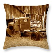 The Old Stillers Place Throw Pillow
