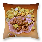 Cchocolates And Sweets Throw Pillow