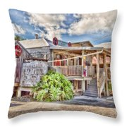 Cecil's Grocery Throw Pillow by Scott Pellegrin
