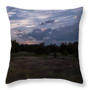 Cedar Park Texas Cedar And Clouds Sunset Throw Pillow