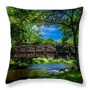 Cedar Creek Bridge Throw Pillow