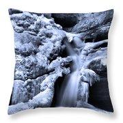 Cedar Falls In Winter Throw Pillow