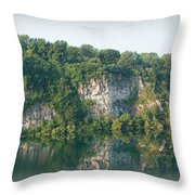 Cedar Hollow Quarry Panorama Throw Pillow