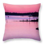 Cedar Island Pinks Throw Pillow