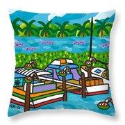 Cedar Key Bayou Throw Pillow